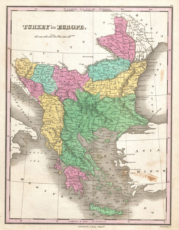 Turkey On Europe Map.Turkey In Europe Geographicus Rare Antique Maps