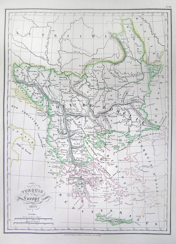 Turquie Europe 1835.