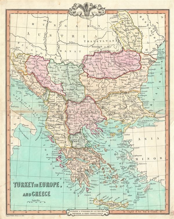 Map Of Europe And Turkey.Turkey In Europe And Greece Geographicus Rare Antique Maps
