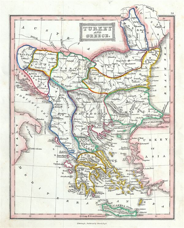 Turkey And Greece Map.Turkey And Greece Geographicus Rare Antique Maps