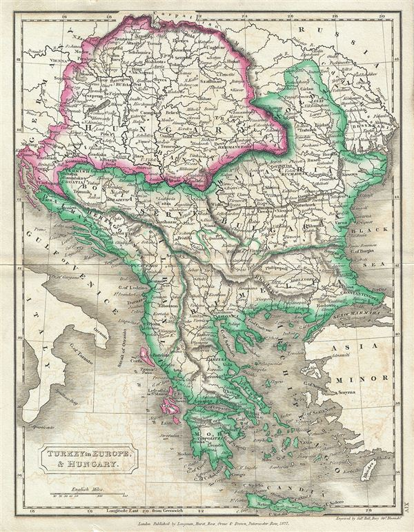 Map Of Europe And Turkey.Turkey In Europe Hungary Geographicus Rare Antique Maps
