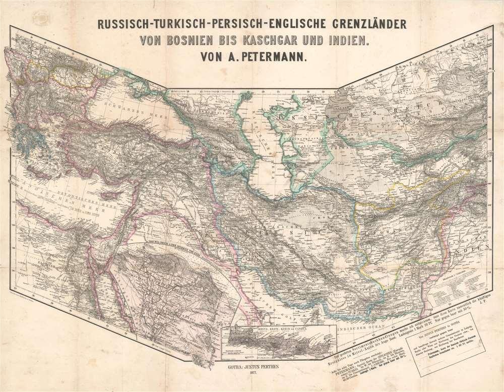 Russisch-Turkisch-Persisch-Englische Grenzländer von Bosnien vis Kaschgar und Indien. - Main View