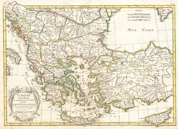 map of greece and turkey. 1771 Janvier Map of Greece,