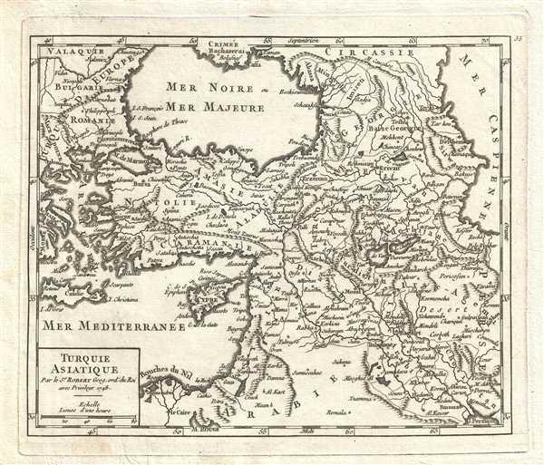 Turquie Asiatique. Par le Sr. Robert Geog. ord. du Roi