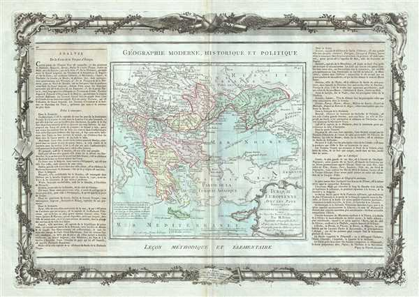 Turquie Europeenne, Avec Les Pays limitropes ou Theatre de la Guerre Actuelle.