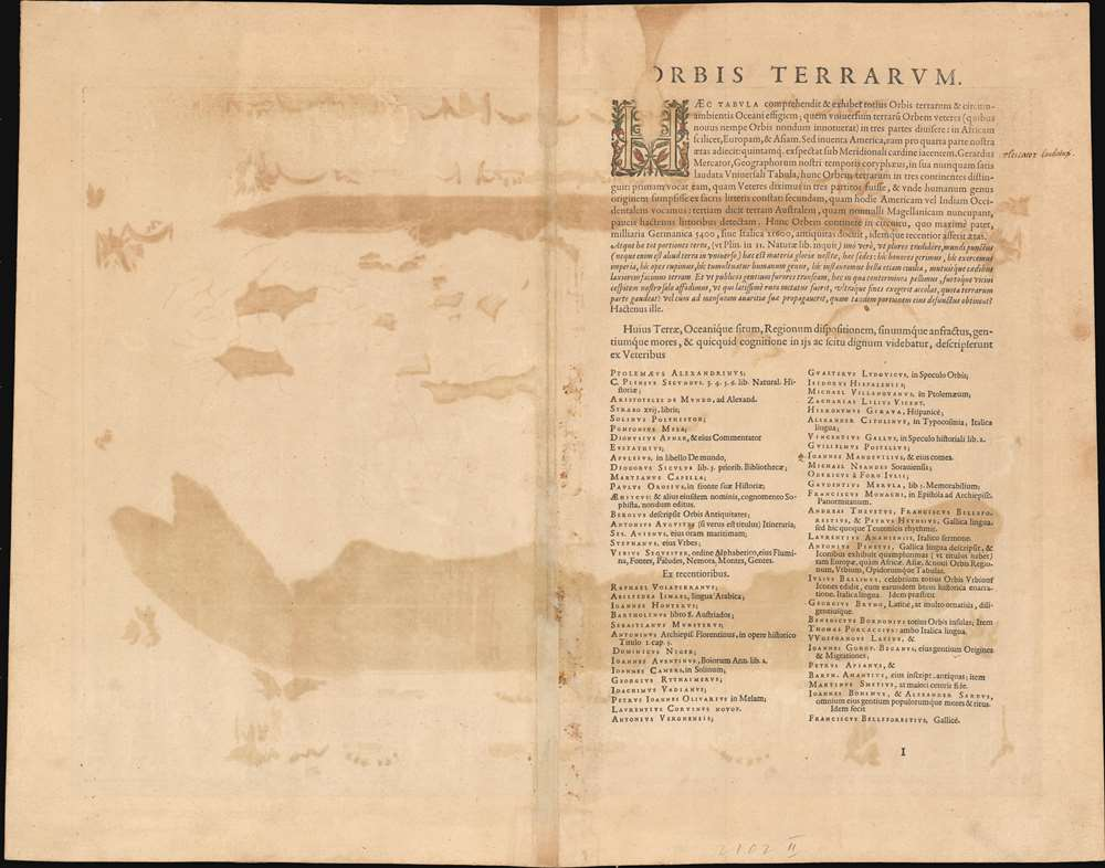 Typus Orbis Terrarum. - Alternate View 1