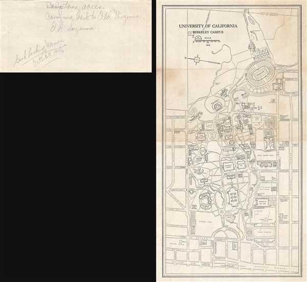 University California Map.University Of California Berkeley Campus Geographicus Rare Antique