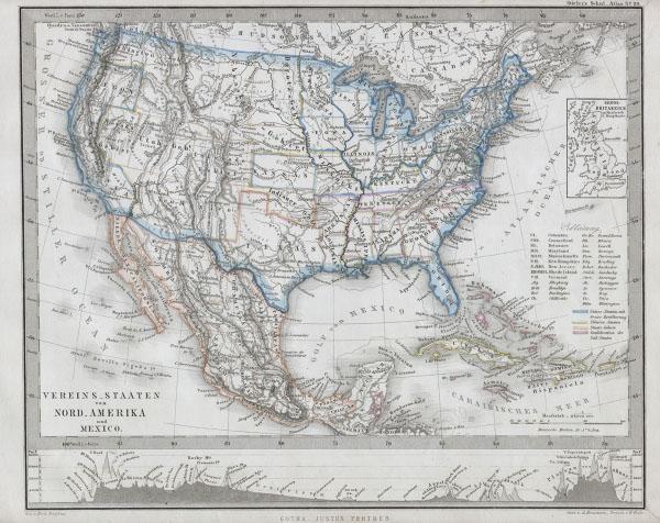 Vereins¬ Staaten vor Nord Amerika und Mexico.
