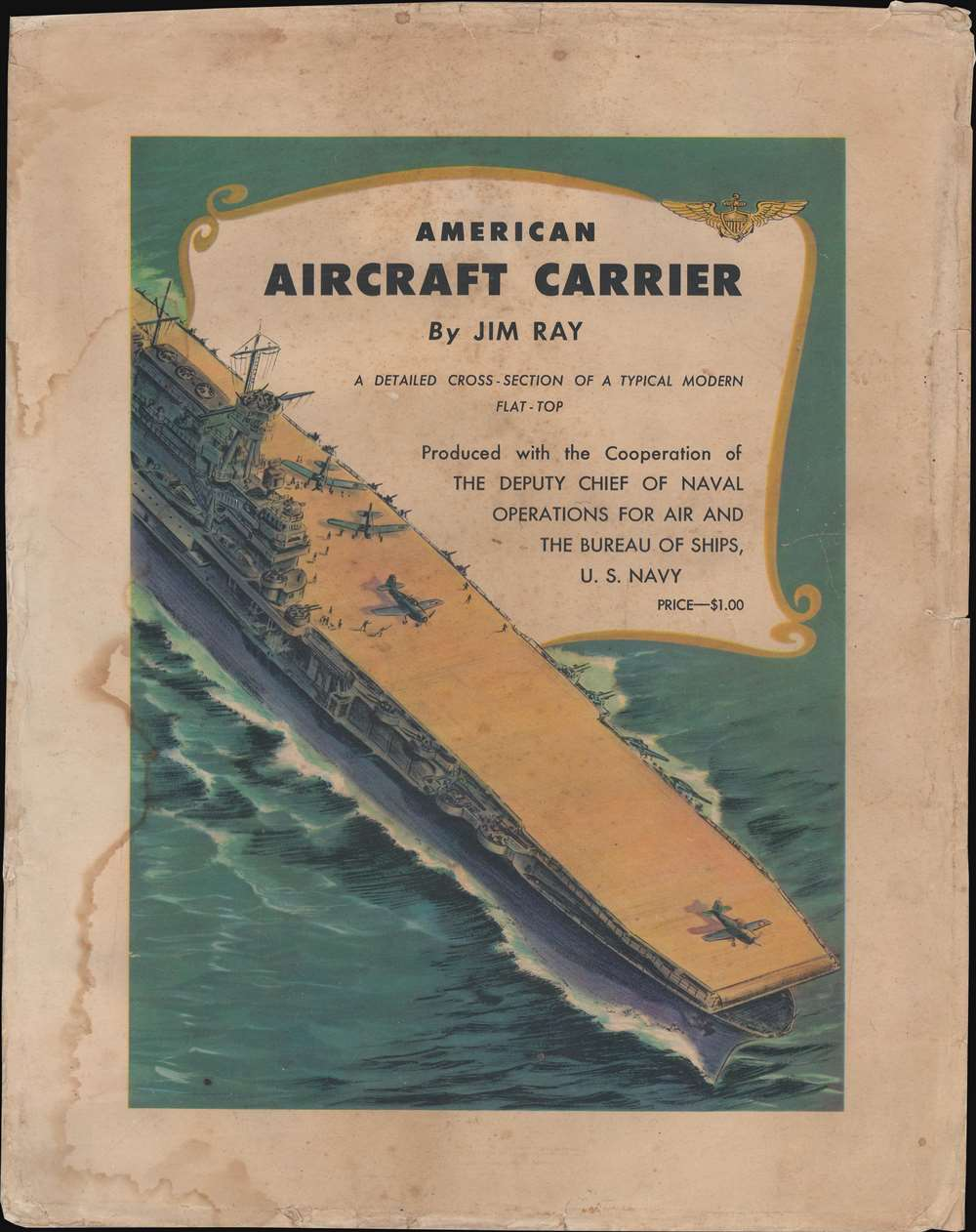 American Aircraft Carrier. A Detailed Cross-Section of a Typical Modern Flat-Top. - Alternate View 5