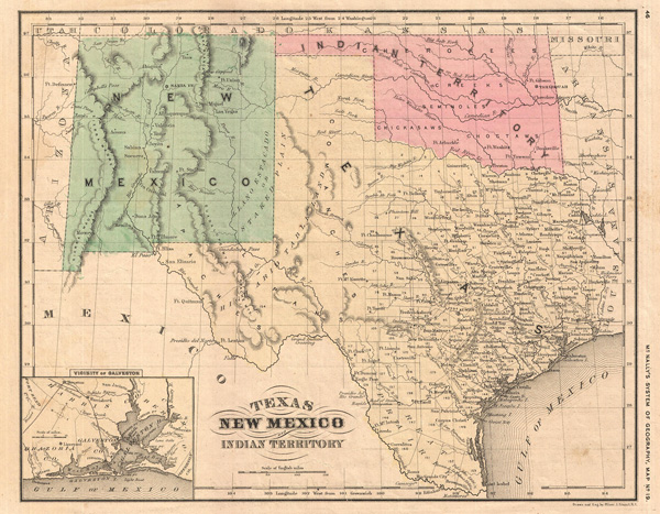 Texas New Mexico And Indian Territory Geographicus