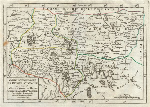 Partie Occidentale de La Russie Polonaise ou se trouvent La Russie, Noire, La Haute, Volhynie, et La Haute. Podolie.