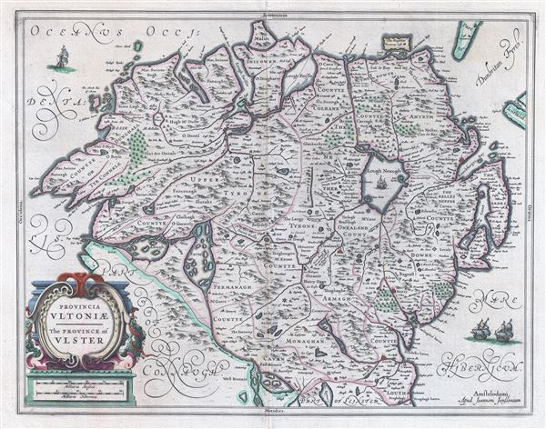 Provencia Ultoniae.  The Province of Uslter.
