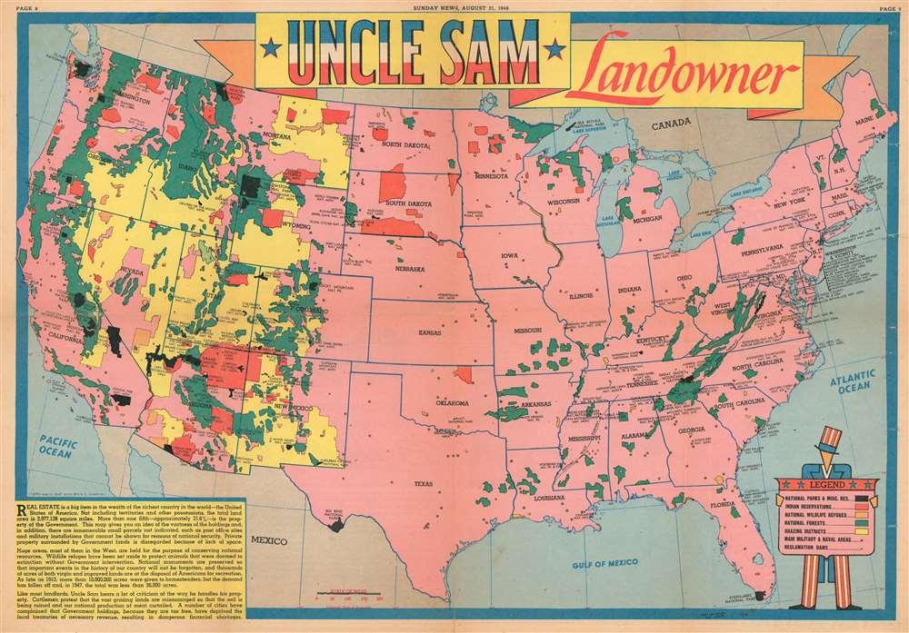 Uncle Sam Landowner.: Geographicus Rare Antique Maps