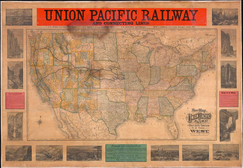 New Map of the Union Pacific Railway, the Short, Quick and Safe Line to all Points West. - Main View