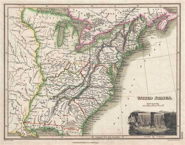 United States Geographicus Rare Antique Maps - Us map 1819