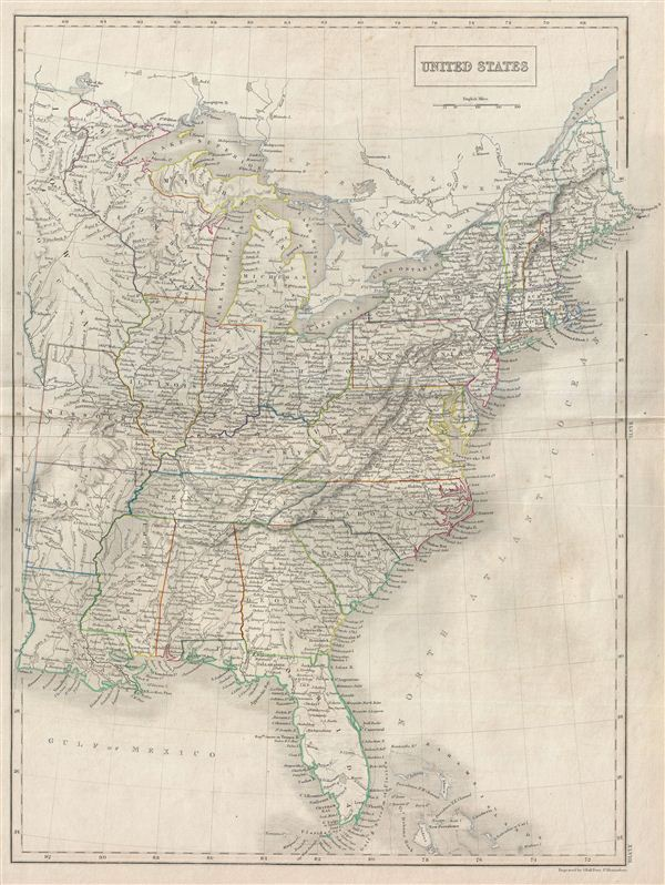 United States Geographicus Rare Antique Maps - Us-map-1840
