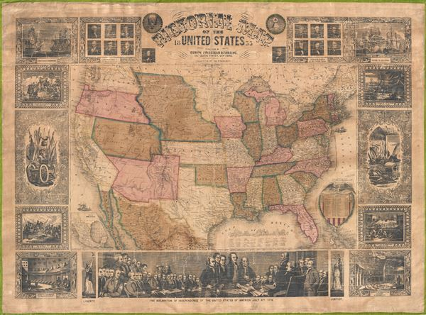 Pictorial Map of the United States. - Main View