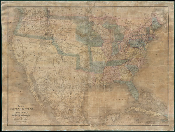 Map of the United States Of North America With parts of the Adjacent Countries. - Main View