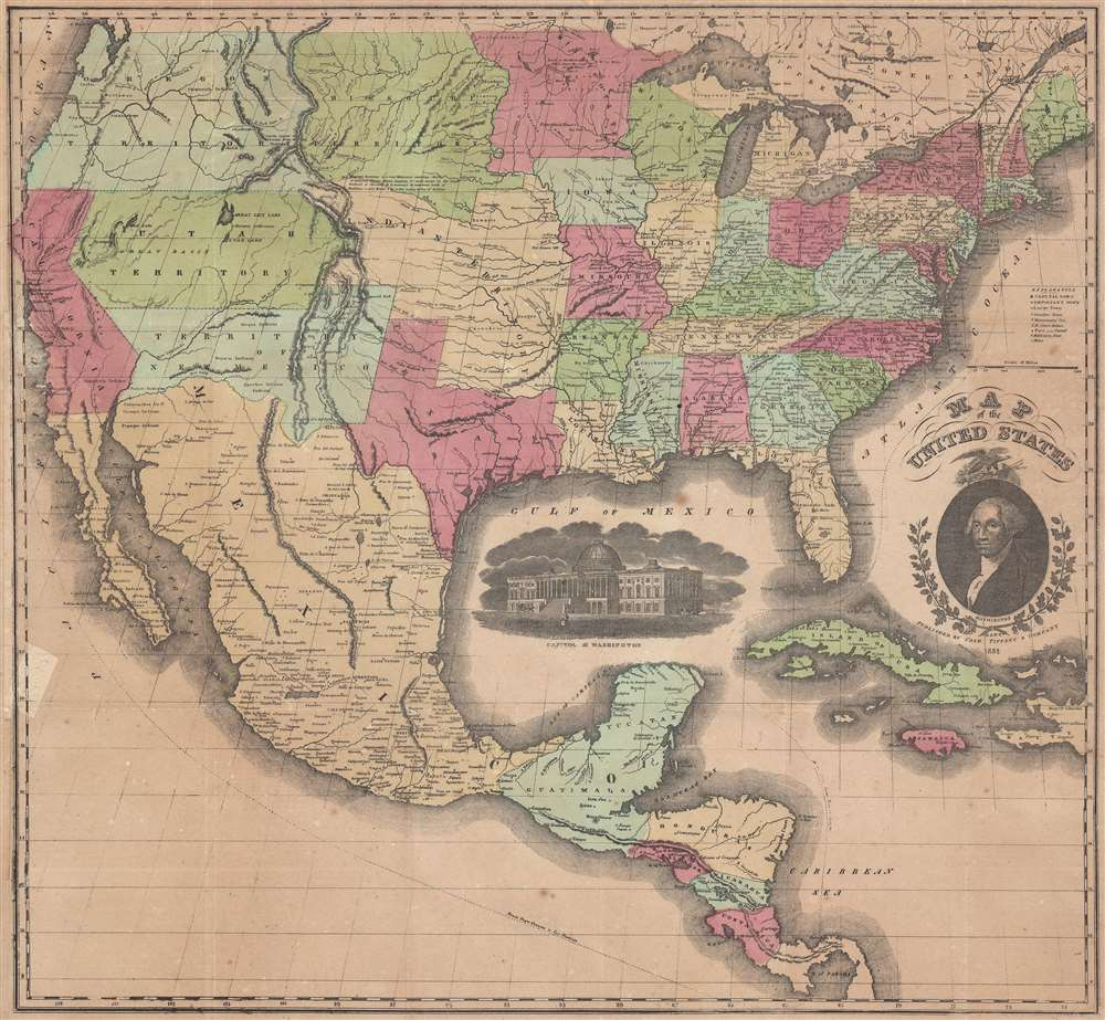 Map of the United States. - Main View