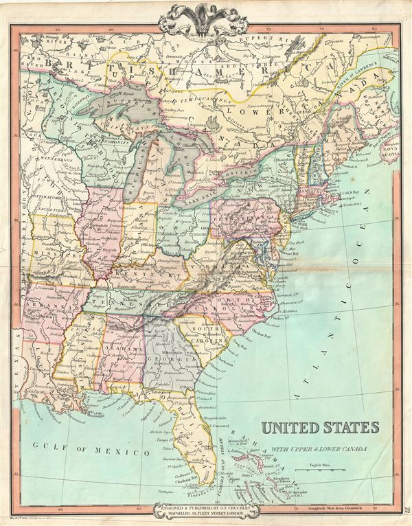 United States With Upper Lower Canada Geographicus Rare Antique Maps