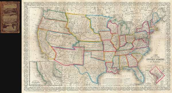 A New Map of the United States of America.