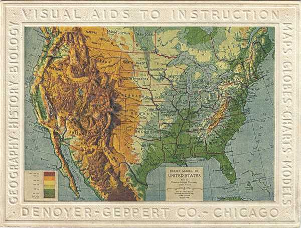 Relief Model of United States.
