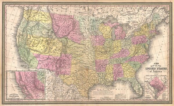A New Map of the United States of America. - Main View