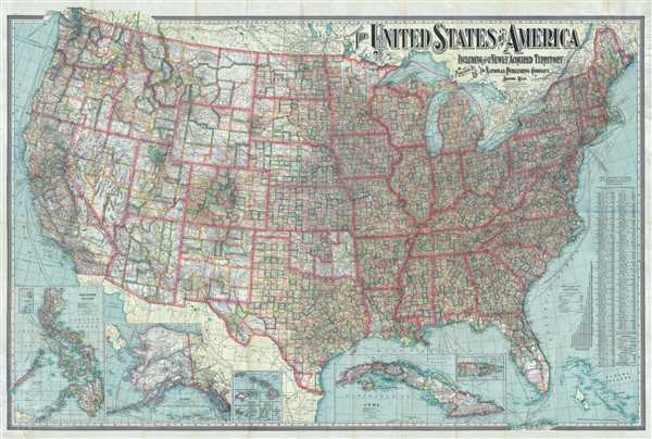 United States Of America Map Images.The United States Of America Including All Its Newly Acquired