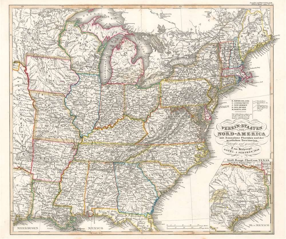 Verein-Staaten von Nord-America mit Ausnahme Florida's und der westlichen Territorien. - Main View