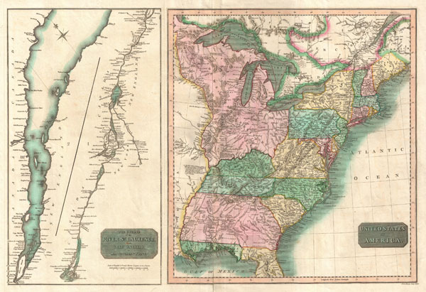 United States of America.  The Course of the River St. Lawrence, from Lake Ontario to Manicouagan Point. - Main View