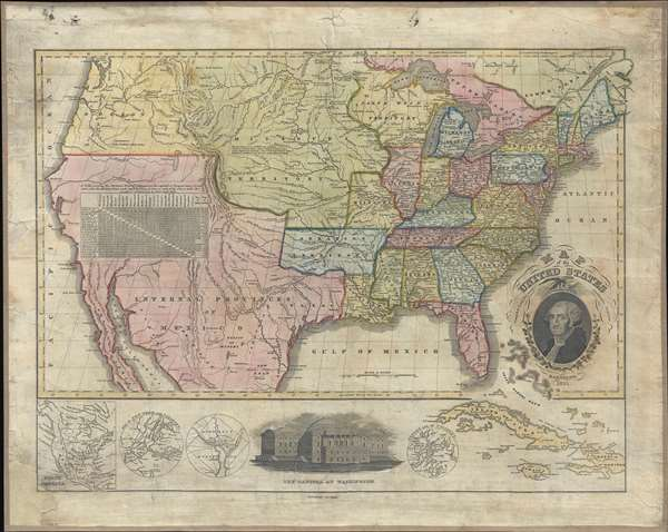 Map of the United States Compiled from the most Authentic Sources.