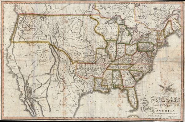 United States Of America Corrected And Improved From The Best - Map of us in 1820