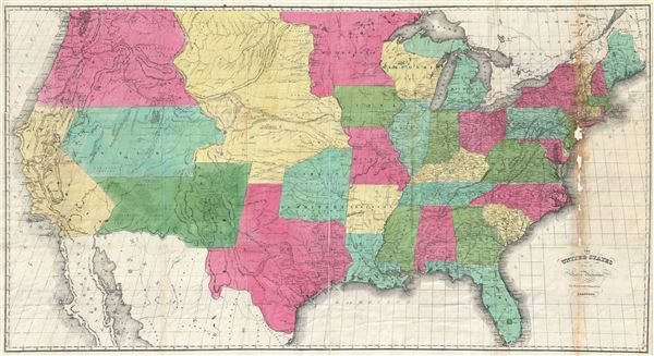The United States from the Latest Authorities for Hayward's Gazetteer.