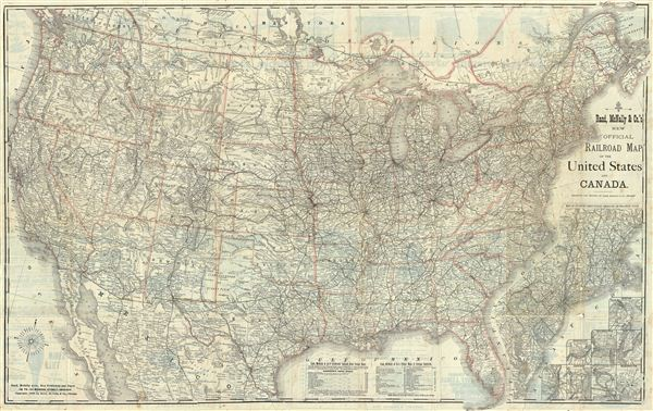 New Official Railroad Map of The United States And Canada.