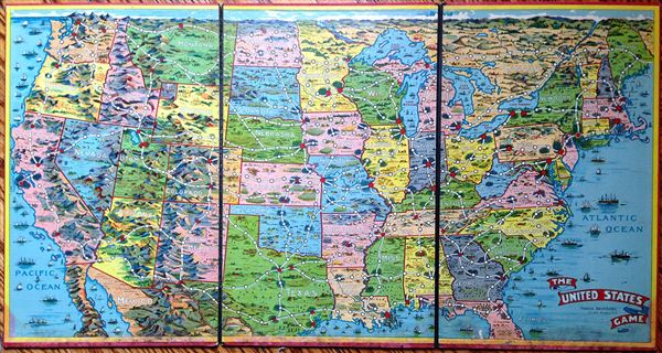 The United States Game.: Geographicus Rare Antique Maps