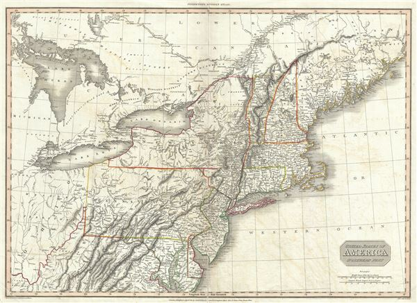 United States Of America Northern Part Geographicus Rare Antique Maps