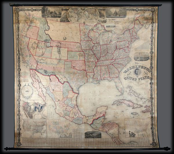 The Washington Map of the United States. - Main View