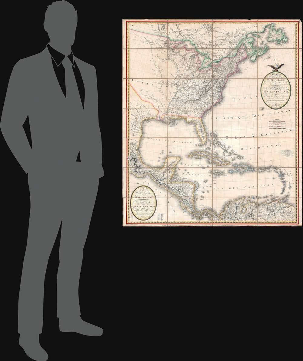A Map of the United States and Canada, New-Scotland, New-Brunswick and New-Foundland. / Carte des Etats-Unis, avec le Canada, La Nouvelle Ecosse, Le Nouveau Brunswick et Terre-Neuve. / A Map of the West-Indies and of the Mexican-Gulph. / Carte des Indies Occidental et du Golfe du Méxique. - Alternate View 1