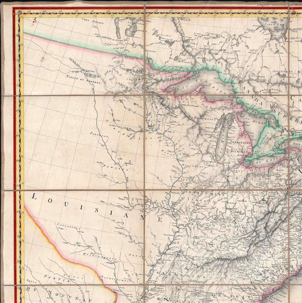 A Map of the United States and Canada, New-Scotland, New-Brunswick and New-Foundland. / Carte des Etats-Unis, avec le Canada, La Nouvelle Ecosse, Le Nouveau Brunswick et Terre-Neuve. / A Map of the West-Indies and of the Mexican-Gulph. / Carte des Indies Occidental et du Golfe du Méxique. - Alternate View 2