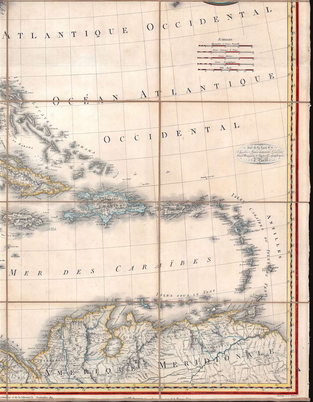 A Map of the United States and Canada, New-Scotland, New-Brunswick and New-Foundland. / Carte des Etats-Unis, avec le Canada, La Nouvelle Ecosse, Le Nouveau Brunswick et Terre-Neuve. / A Map of the West-Indies and of the Mexican-Gulph. / Carte des Indies Occidental et du Golfe du Méxique. - Alternate View 5