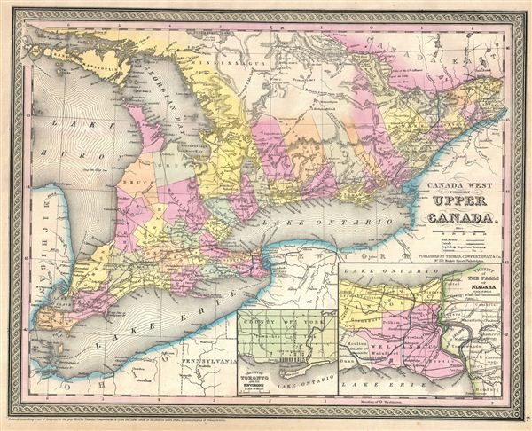 Canada West Formerly Upper Canada Geographicus Rare