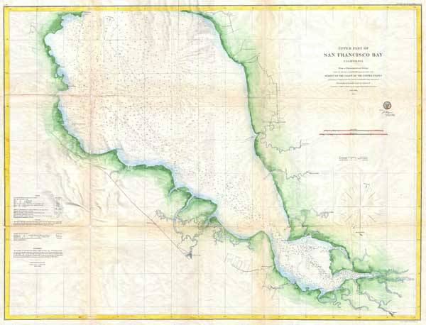 Upper Part of San Francisco Bay, California. - Main View