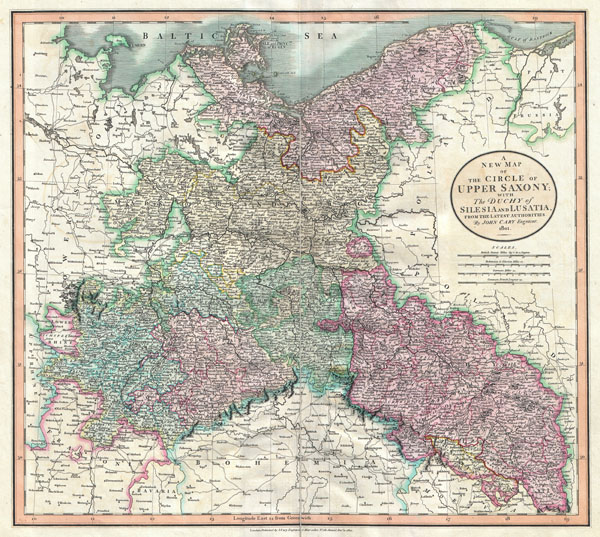 A New Map of the Circle of Upper Saxony; with the Duchy of Silesia and Lusatia, from the Latest Authorities.