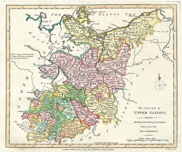 The Circle of Upper Saxony, with the Marquistate of Lusatia, Drawn from the Best Authorities. - Main View