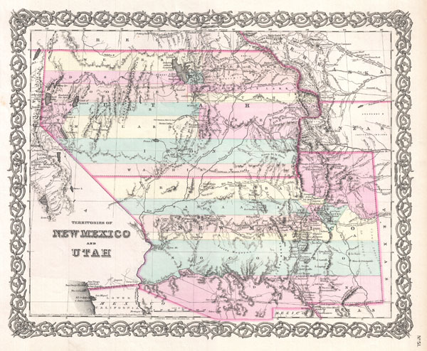 Territories of New Mexico and Utah.