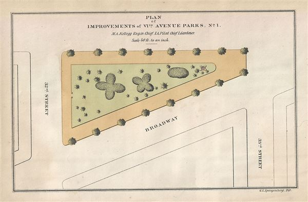 Plan of Improvements of VIth Avenue Parks, No.1.