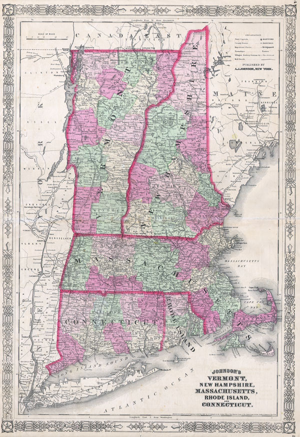 Johnson's Vermont, New Hampshire, Massachusetts, Rhode Island, and Connecticut