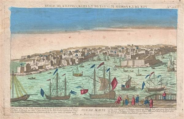 Vue de Malte. (Vue de la Partie Sed Est de la Ville Capitale de Malte.)