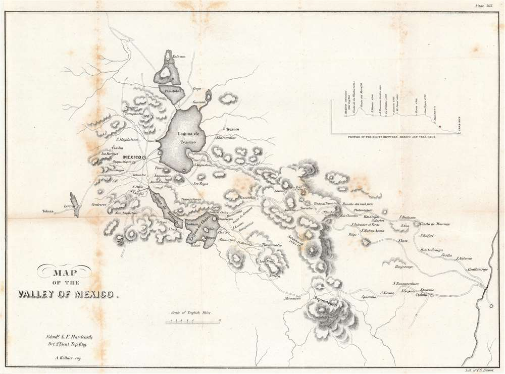 Map of the Valley of Mexico. - Main View