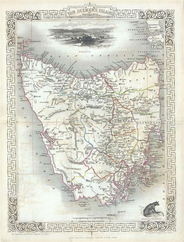 Van Diemen's Island or Tasmania.